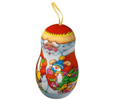 """Новогодняя упаковка  150 г """"Матрешка """"Дед Мороз"""""""