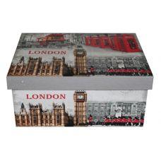 """Подарочная коробка из МДФ с металлическими ручками большая """"Лондон"""""""