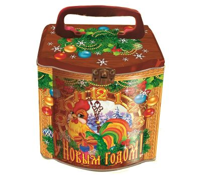"""Новогодняя упаковка из жести """"Копилка """"С Новым годом!"""""""