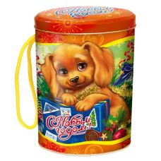 "Новогодняя упаковка  500 г ""Овал ""Собачки-милашки"""