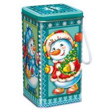 """Новогодняя упаковка  600 г """"Копилка """"Снеговики"""""""