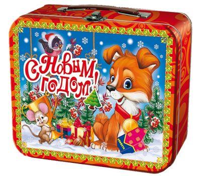 """Новогодняя упаковка 1000 г """"Чемоданчик средний """"Победитель"""""""