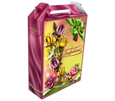 """""""Поздравляем!"""" - универсальная упаковка из картона для подарочных наборов к любым праздникам"""