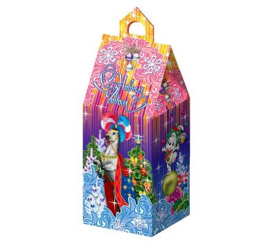 """Новогодняя упаковка из картона """"Цирковая лошадь малая"""""""