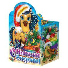 """Новогодняя упаковка из картона """"Лошадка"""""""