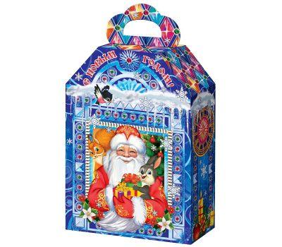 """Новогодний подарок  850 г """"Дед Мороз и Снегурочка со зверятами"""""""