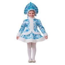 """Новогодние костюмы для детей """"Снегурочка Гжель"""""""