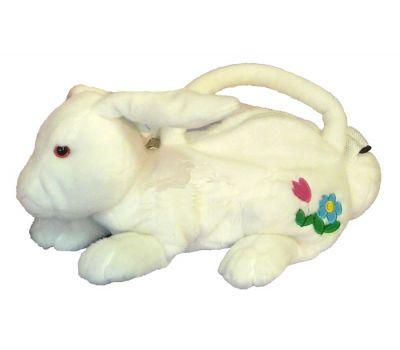 """Акция - Новогодняя упаковка - мягкая игрушка """"Зайчик-сумочка белый"""""""