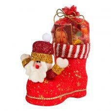 """Новогодний подарок  700 г """"Сапожок с Дедом Морозом большой"""""""