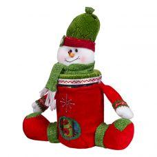 """Новогодний подарок  300 г """"Снеговик-банка"""""""