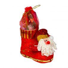 """Новогодний подарок  200 г """"Сапожок с Дедом Морозом малый"""""""