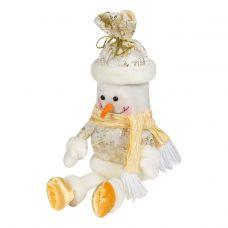 """Новогодний подарок  400 г """"Снеговик - мешок золотистый"""""""
