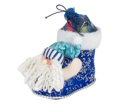 """Новогодняя упаковка  250 г """"Сапожок с Дедом Морозом малый"""""""