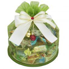 """Новогодний подарок  700 г """"Волшебный мешочек из органзы с подвесом"""""""