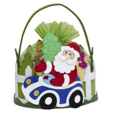 "Новогодняя упаковка  700 г ""Дед Мороз в автомобиле"""