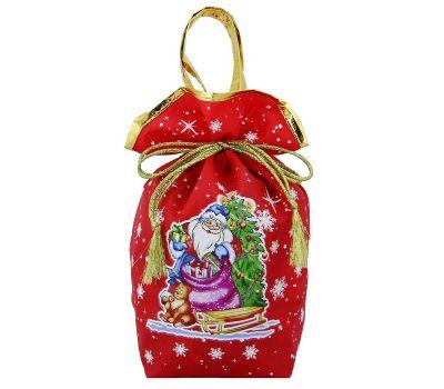 """Новогодний подарок 1200 г """"Мешочек """"Дед Мороз с елочкой"""" красный большой"""""""