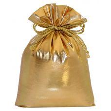 """Новогодний подарок  850 г """"Мешочек из парчи золотистый"""""""