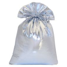 """Новогодний подарок  850 г """"Мешочек из парчи серебристый"""""""