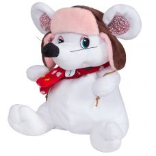 """Новогодний подарок  400 г """"Мышонок белый в шапке"""""""