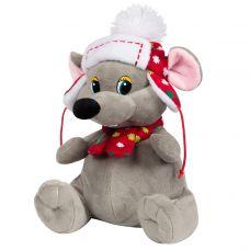"""Новогодний подарок  700 г """"Мышонок серый в шапке"""""""