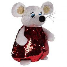 """Новогодний подарок 1000 г """"Мышка в красном блестящая"""""""
