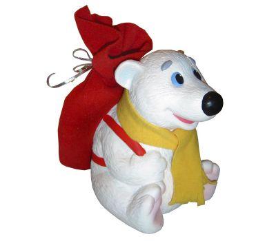 """Новогодняя упаковка из пластизоля """"Медвежонок с рюкзаком"""""""