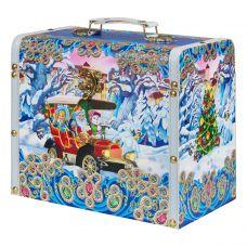 """Новогодняя упаковка 3700 г """"Сундучок """"Автомобиль Деда Мороза"""" малый"""""""