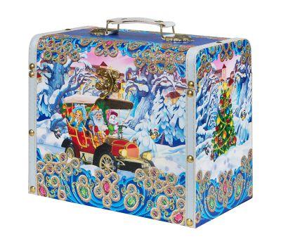 """Новогодняя упаковка 5000 г """"Сундучок """"Автомобиль Деда Мороза"""" большой"""""""