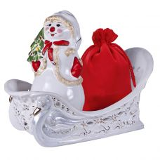 "Новогодняя упаковка 2000 г ""Сани со снеговиком"""