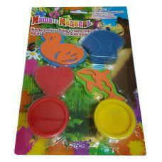 """Набор пальчиковых красок """"Маша и медведь"""" со штампиками / спонжиками в ассортименте"""