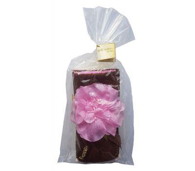 """Набор махровых полотенец """"Розовый пион в шоколаде"""""""