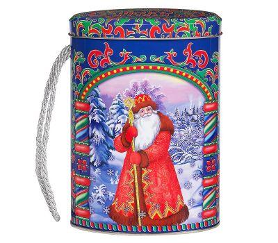 """Новогодний подарок  400 г """"Овал малый """"Дед Мороз и Снегурочка"""""""