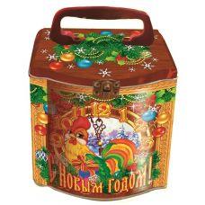"""Новогодняя упаковка из жести  850 г """"Копилка """"С Новым годом!"""""""