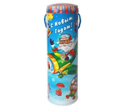 """Новогодняя упаковка из жести  950 г """"Туба """"Мышиный десант"""""""