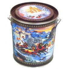 """Новогодняя упаковка 1800 г """"Ведро """"Зимние гуляния"""""""