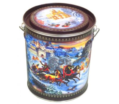 """Новогодний подарок 1500 г """"Ведро """"Зимние гуляния"""""""