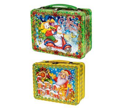 Новогодняя упаковка: Набор из двух жестяных чемоданчиков - дополнительная скидка за набор!