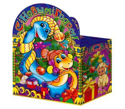 """Новогодняя упаковка из картона """"Змейки"""""""