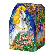 """Новогодняя упаковка из микрогофрокартона 1500 г """"Волшебная лошадь"""""""