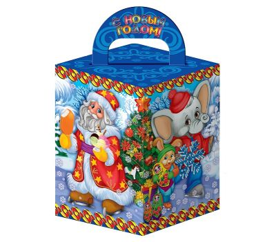 """Новогодняя упаковка  400 г """"Загадки от Деда Мороза"""""""