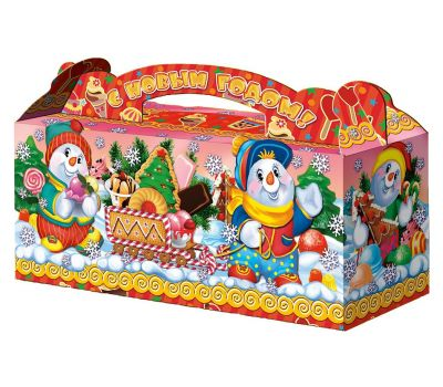 """Новогодний подарок  700 г """"Снеговики-кондитеры"""""""
