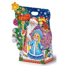 "Новогодний подарок  850 г ""Сумка ""Дед Мороз и Снегурочка"""