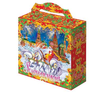 """Новогодняя упаковка  700 г """"Новогодний Кремль"""""""