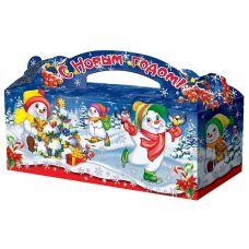 """Новогодняя упаковка  900 г """"Веселые снеговики"""""""