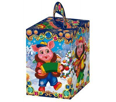 """Новогодняя упаковка из картона  600 г """"Три поросенка"""""""