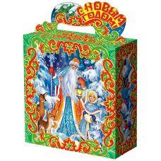 """Новогодняя упаковка 1000 г """"В лесу.  Дед Мороз и Снегурочка"""""""