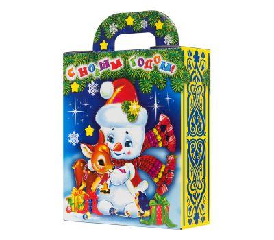 """Новогодняя упаковка 1100 г """"Снеговик в шапке"""""""