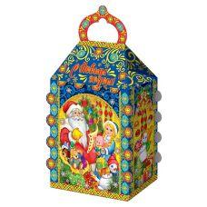 """Новогодний подарок  850 г """"Домик """"Дед Мороз и Снегурочка"""""""