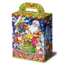 """Новогодний подарок 1000 г """"Дед Мороз с часами и зверятами"""""""