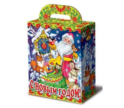 "Новогодняя упаковка 1100 г ""Дед Мороз с часами и зверятами"""